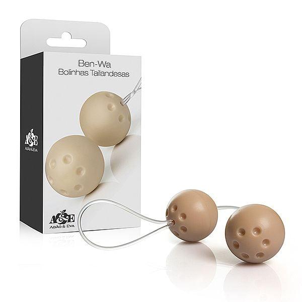 Ben-wa - Conjunto 2 bolas pompoar - Marfim