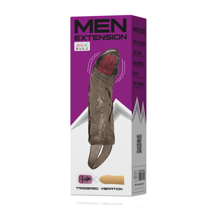 Capa Peniana Men Extension Com Vibro 13,5 x 3,5 cm