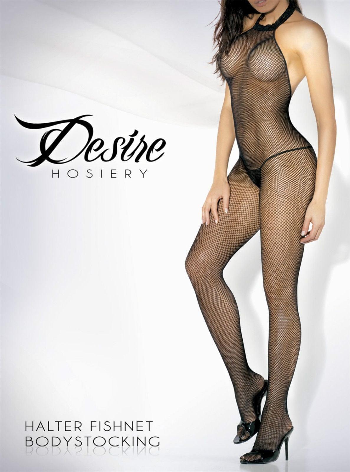 Body Desire Hosiery Arrastão Preto