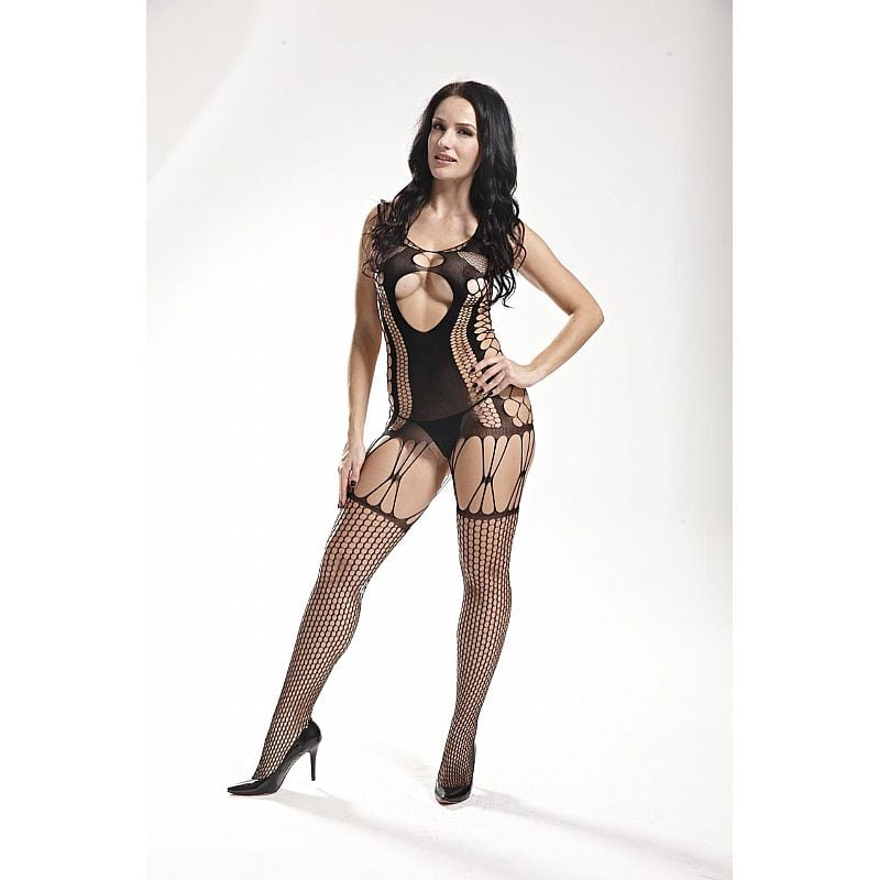 Bodystocking Macacão Rendado Vaqua 3540