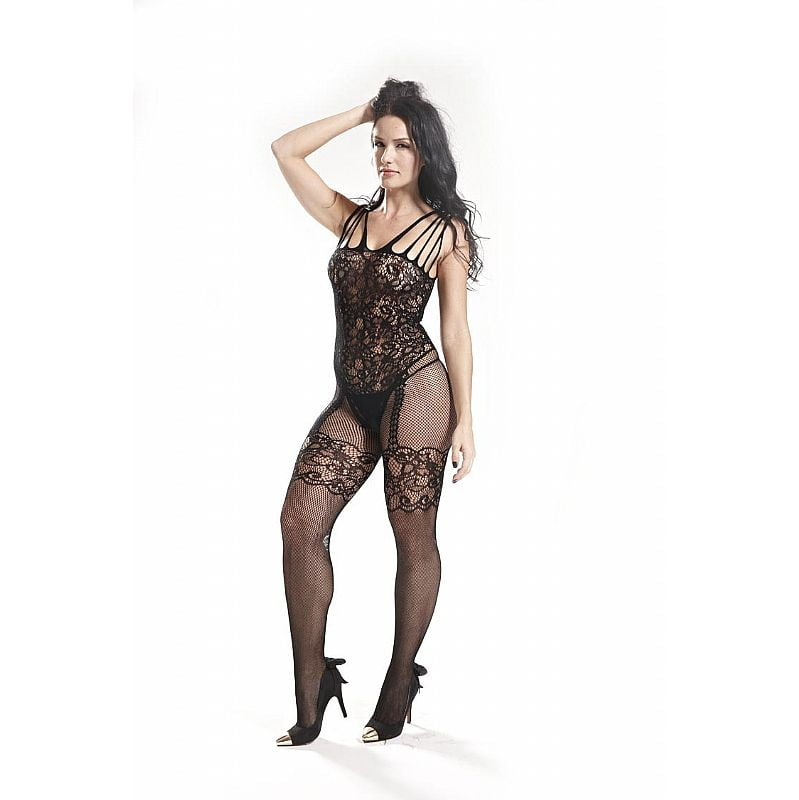Bodystocking Macacão Rendado Vaqua 3542