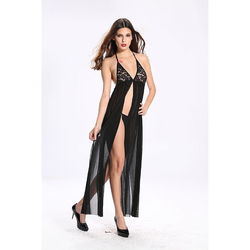 Bodystocking Vestido Rendado Vaqua 3552