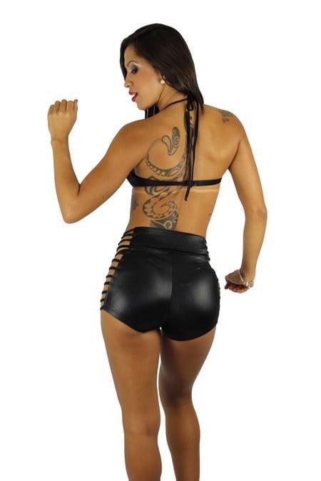 Shorts Sensual Com Ziper Tiras lateral For Night