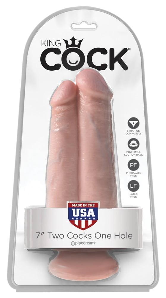King Cock Penis 2 em 1 com Ventosa