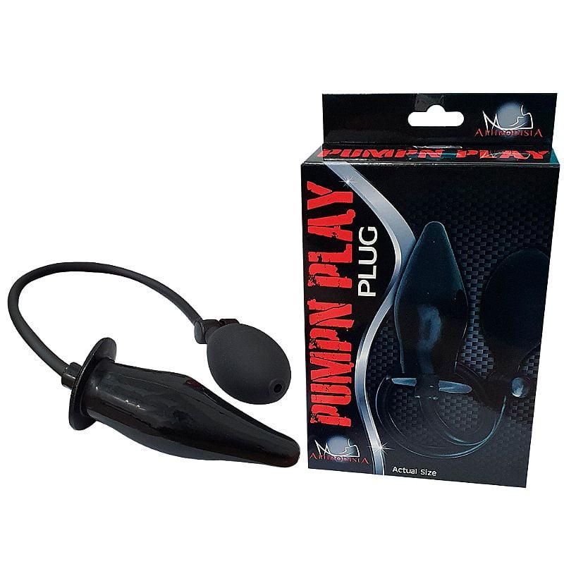 Pump N' Play Black - Plug anal Inflável
