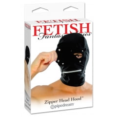 Mascara com feche nos olhos e ziper na boca - Zipper Head Hood
