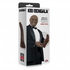 Kid Bengala - Réplica perfeita moldada a partir do penis real - 32cm - Com Vibrador