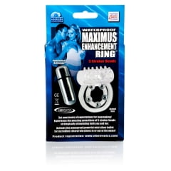 Anel Peniano com Vibro Waterproof Maximus Enhancement Ring 5 Stroker Beads