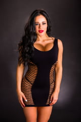 Mini Vestido Importado em Lycra com Aberturas -