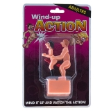 WIND-UP ACTION Casal Gay a corda simulando sexo anal