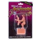 WIND-UP ACTION Casal Gay a corda simulando sexo anal