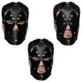 Máscara Capuz com Aberturas Olhos e Boca