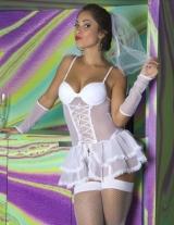 Fantasia Noiva Vestido Garota veneno