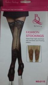 Meia 7/8 Fashion Stockings Over Knee Possui relevo em veludo