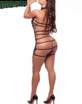 Mini Vestido Frente Única com Tiras - Madame X