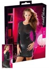 Vestido Leve Transparência com Glitter - Cottelli Collection