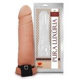 Capa Peniana em PVC com Veias Salientes, Glande Definida e Cinta Elástica - 17x 5 cm   -