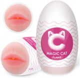 Masturbador Masculino em Formato de Boca Realista - Magic Cat Flame