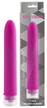 Seu Vibro - Vibrador Personal com Textura Aveludada e Vibração Multivelocidade - 17,5 x 2,8 cm