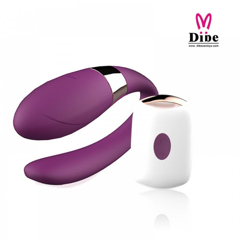 Dibe - Vibrador para Casal Recarregável em Silicone com 7 Modos de Vibrações e Controle Remoto Sem Fio